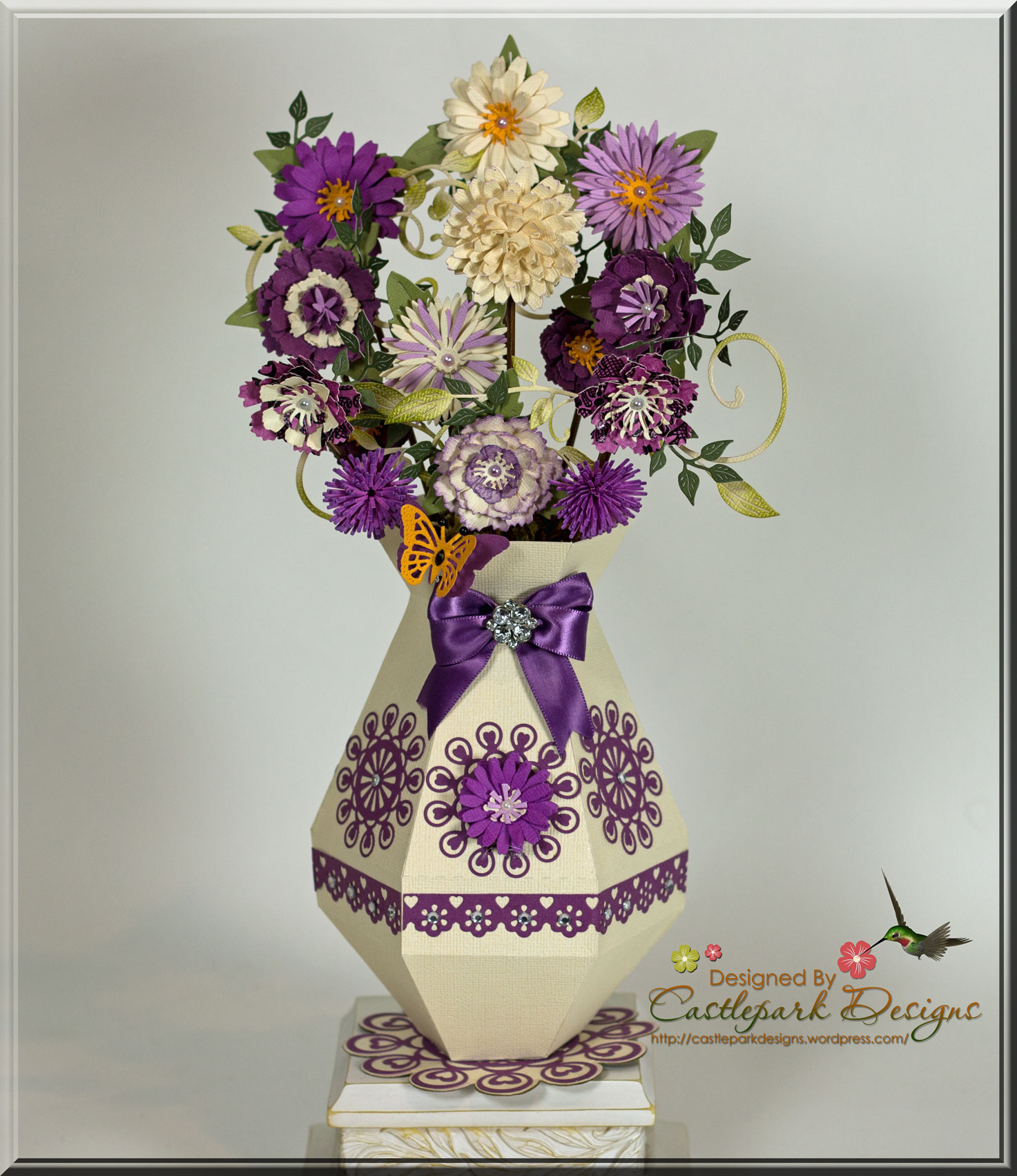 Flower Vase Pretty In Purple Castlepark Designs