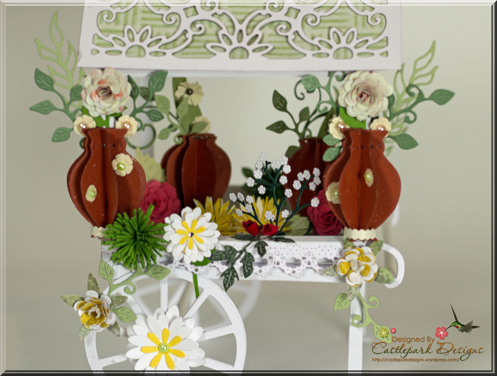 Paper Quilling Flower Cart Vaydileforic