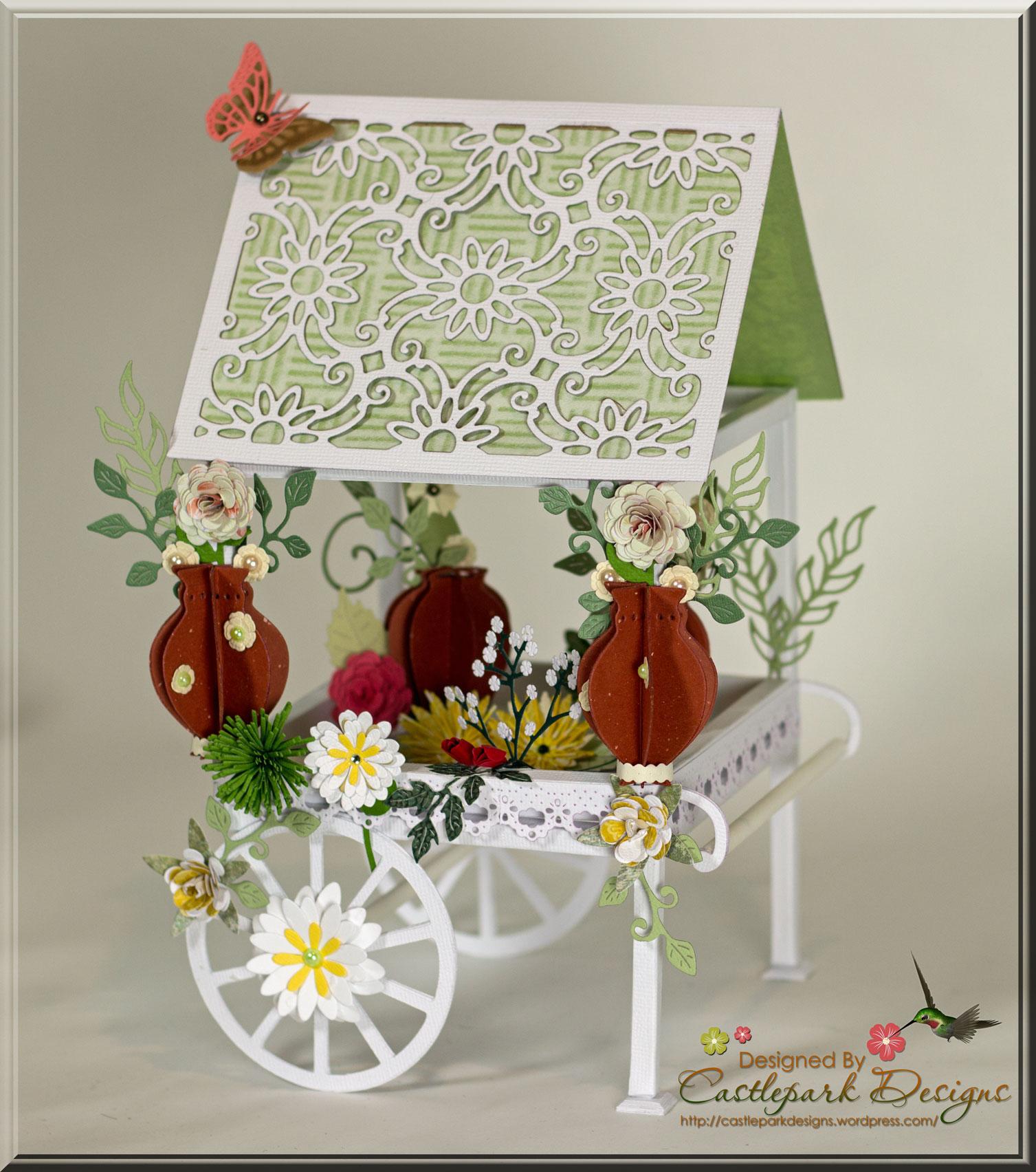 Scrapbook paper cart - Flower Cart