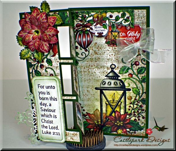 Joann-Larkin-Fancy-Fold-Christmas-Card-Open