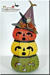 3D Pumpkins With WitchesHat