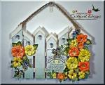 Folk Art BirdhouseFence