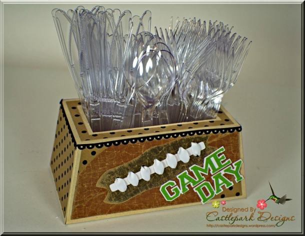 Joann-Larkin-Football-Utensil-Holder