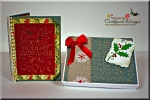 Christmas Fancy Fold with Box for Mailing