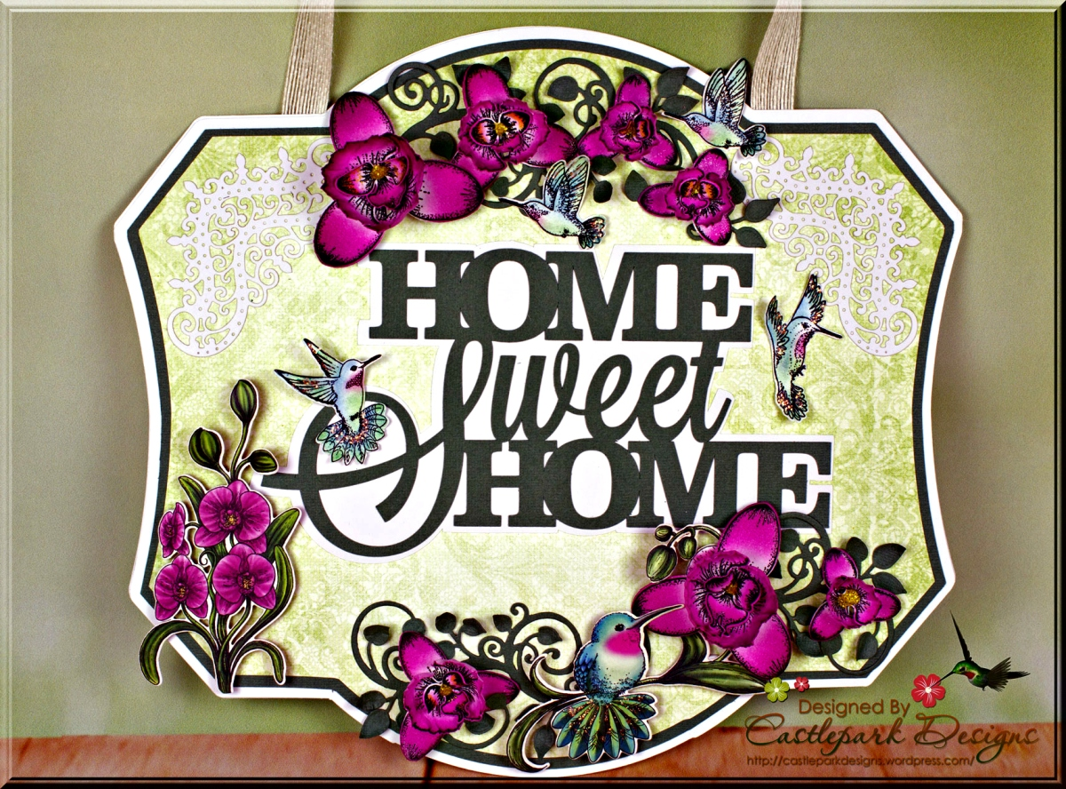 Botanic Orchid Home Sweet Home Sign | Castlepark Designs