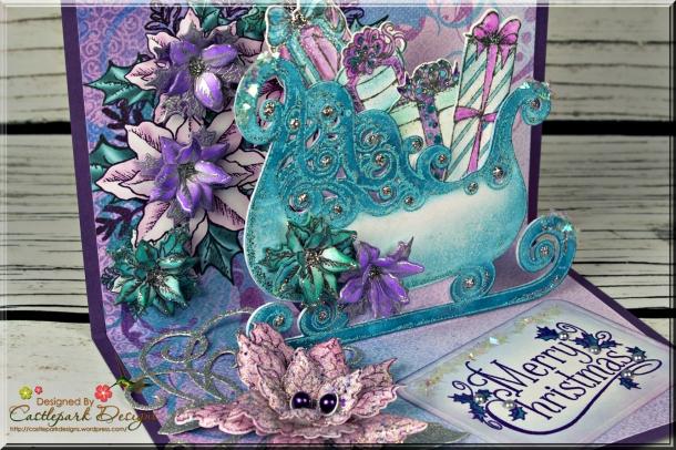 Joann-Larkin-Merry-Christmas-Sleigh-Pop-Out-Card-Closeup