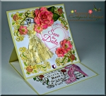 All Glammed Up Save the Date Easel Card