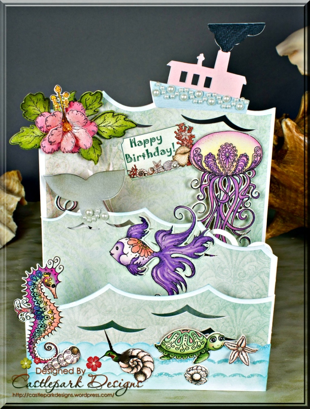 Joann-Larkin-Sea-Triple-Easel-Card