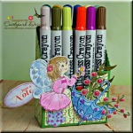 Distressed Crayon Storage Holder