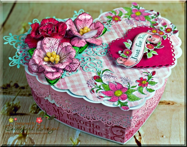 "Just For You"" 3D Heart Box 