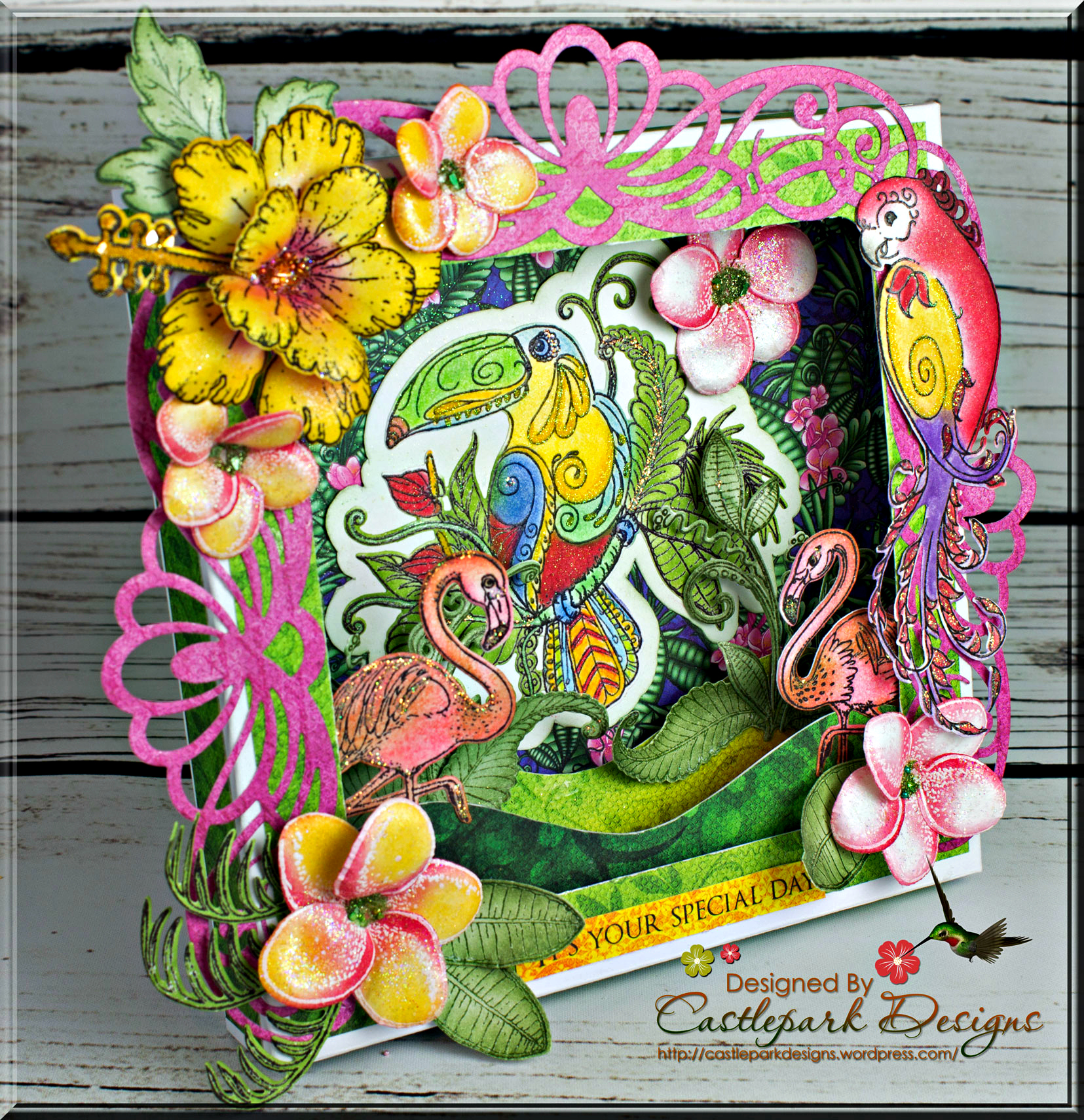 joann-larkin-tropical-shadow-box1 & Tropical Paradise Shadow Box | Castlepark Designs Aboutintivar.Com