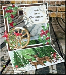 "Festive Holly Easel ""See Through"" Card"