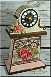 Dogwood Mantel Clock with a Twist!