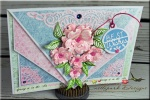 Best Wishes Fancy Fold Card